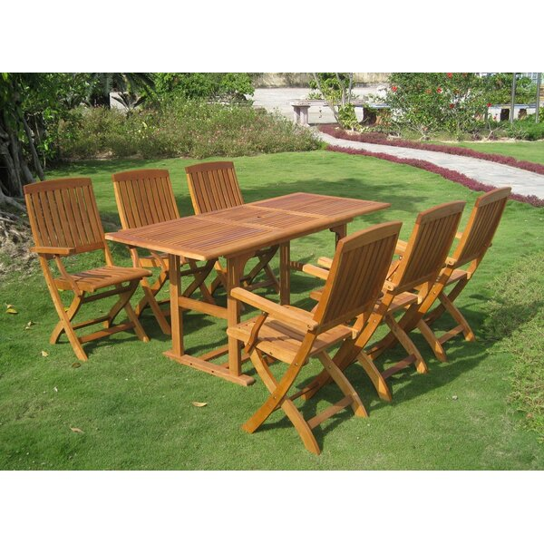 Sabbattus Bascara 7 Piece Dining Set by Breakwater Bay