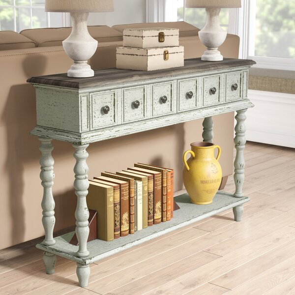 Preiss Two Toned Weathered Console Table by Lark Manor