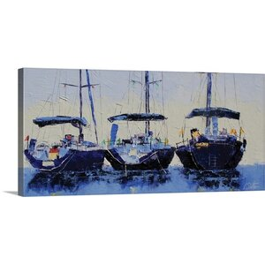 'My Three Boys' by Leslie Saeta Painting Print on Wrapped Canvas by Great Big Canvas