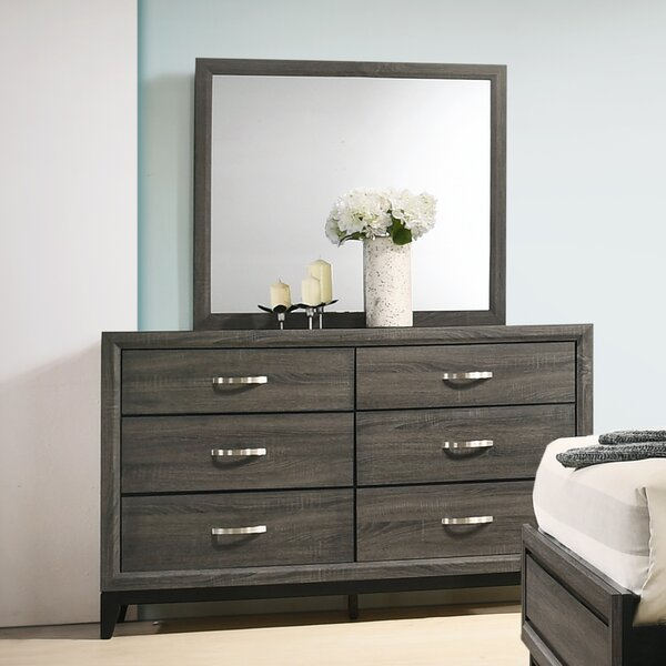Macy 6 Drawer Dresser with Mirror by Wrought Studio