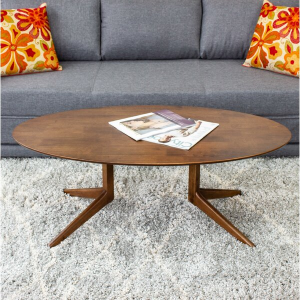 Aanya Solid Wood Trestle Coffee Table By Union Rustic