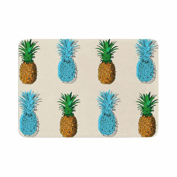 Fineapple Food Abstract Memory Foam Bath Rug by East Urban Home