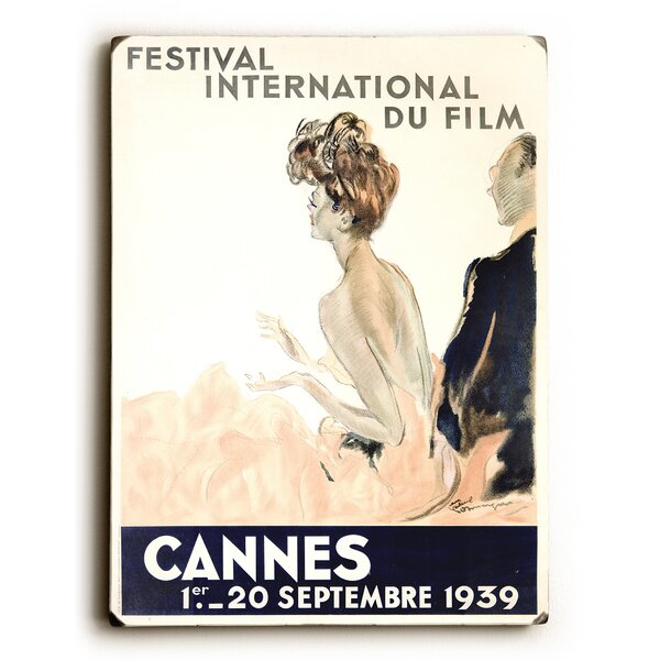 1939 Cannes Film Festival Vintage Advertisement by Artehouse LLC