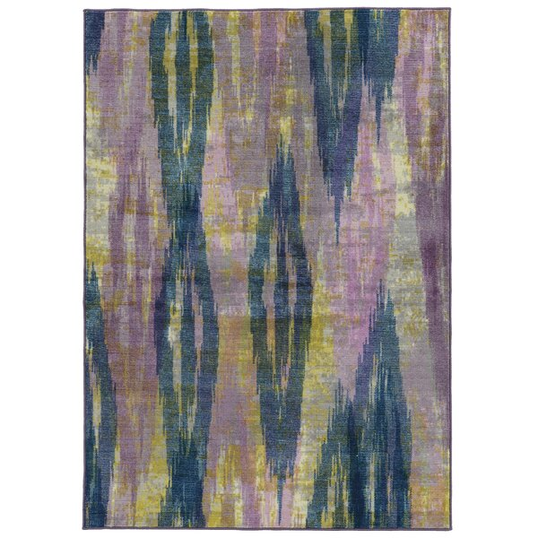 Prismatic Abstract Purple/Blue Area Rug by Pantone Universe