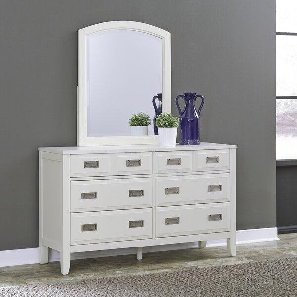 Darrow 6 Drawer Double Dresser with Mirror by Mercury Row