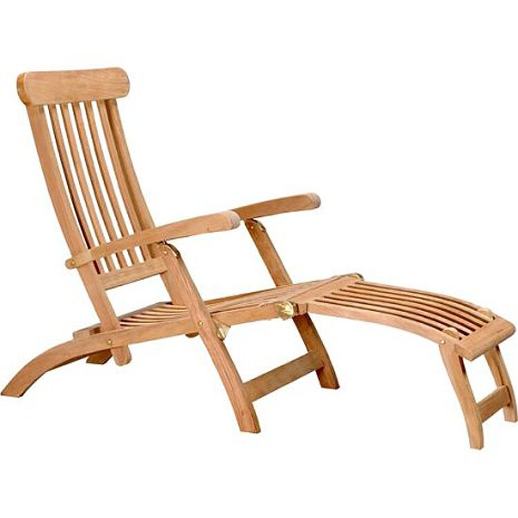Teak Chair d-art collection teak steamer lounge chair & reviews | wayfair