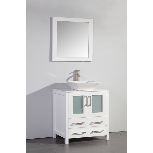 Camillo 30 Single Bathroom Vanity Set with Mirror by Wade Logan