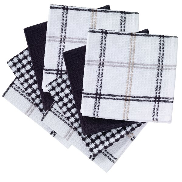 8 Piece Flat Waffle Kitchen Dishcloth Set by T-fal