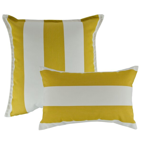 Cabana Combo Outdoor Sunbrella Pillow by Austin Horn Classics