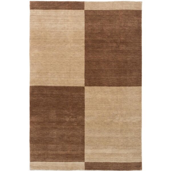 One-of-a-Kind Eibhlin Hand-Knotted Wool Beige/Dark Brown Area Rug by Isabelline