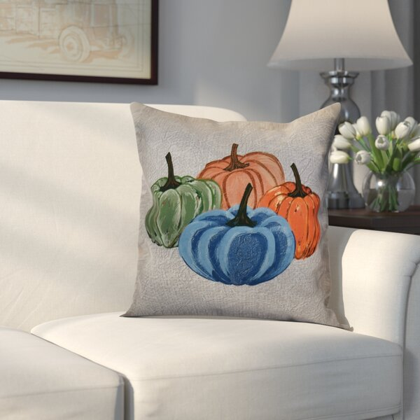 Miller Paper Mache Pumpkins Outdoor Throw Pillow by Alcott Hill