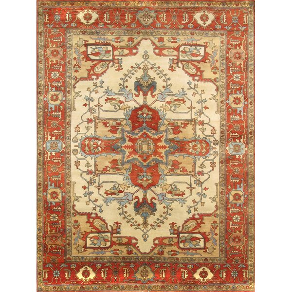 Serapi Hand-Knotted Ivory Area Rug by Pasargad
