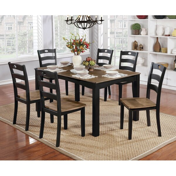 Hanger Wooden 7 Piece Counter Height Dining Table Set by Red Barrel Studio