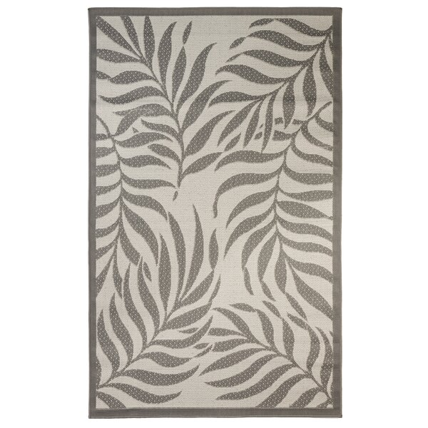 Caillo Tropical Light Gray/Anthracite Indoor/Outdoor Area Rug by Bay Isle Home