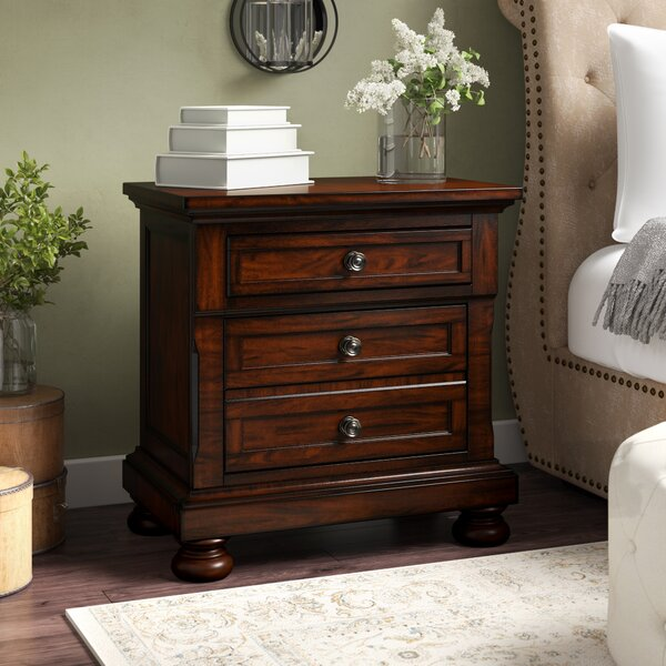 Barossa 3 Drawer Nightstand by Darby Home Co