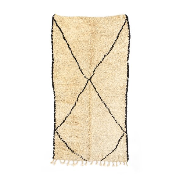 Beni Ourain Hand-Knotted Ivory Area Rug by Indigo&Lavender