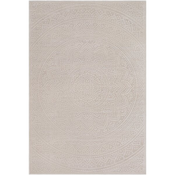 Geir Cream/Khaki Area Rug by Ophelia & Co.