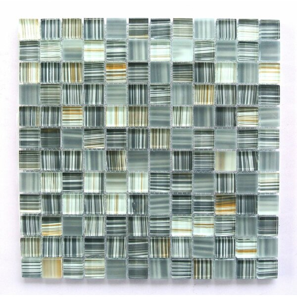 Handicraft 1 x 1 Glass Mosaic Tile in Ash Gray by Abolos