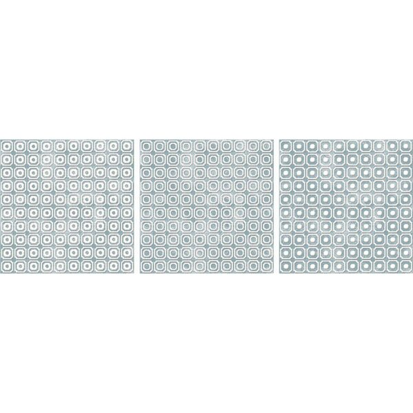 Bargello 8 x 8 Porcelain Field Tile in Blue by The Bella Collection