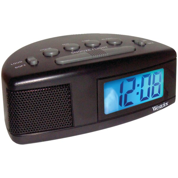 Super Loud LCD Alarm Clock with Blue Backlight by Latitude Run