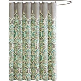 Look for Jonesboro Karole Cotton Shower Curtain ByBungalow Rose