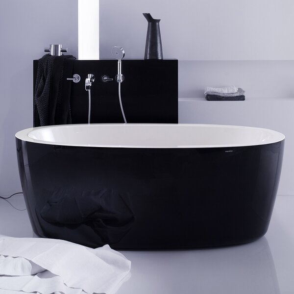 Purescape 63 x 30 Freestanding Soaking Bathtub by Aquatica