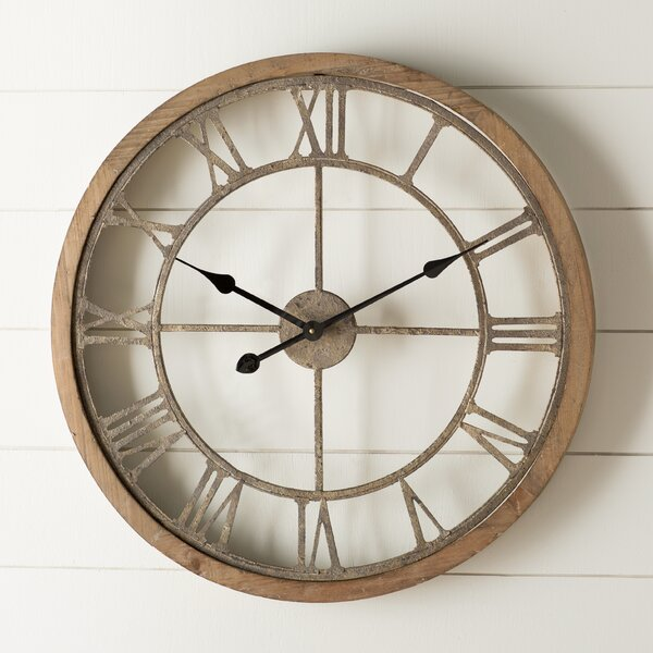 Laurel Foundry Modern Farmhouse Natural Wood Wall Clock U0026 Reviews | Wayfair