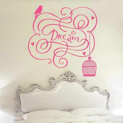 Dream With Bird Out Of Cage Wall Sticker Brambly Cottage
