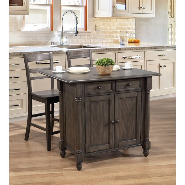 Rawtenstall Drop Leaf Kitchen Island Set by Darby Home Co