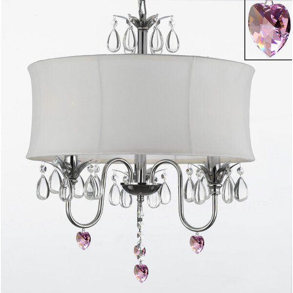 Maria Theresa 3 - Light Candle Style Drum Chandelier By Harrison Lane