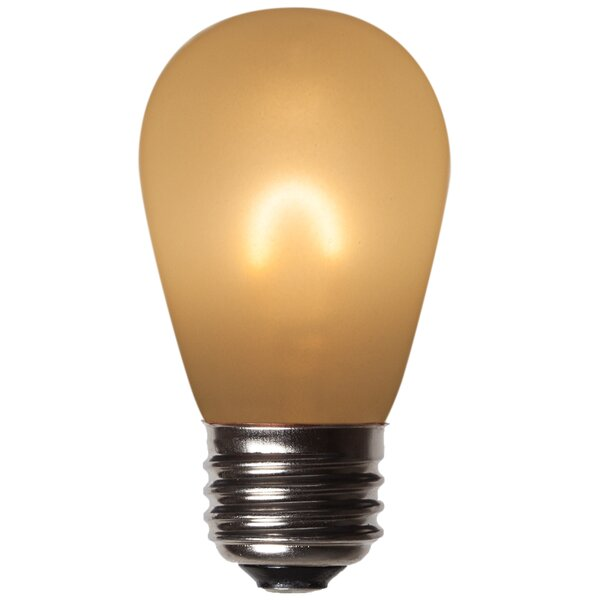 1W E26 LED Light Bulb Frosted Amber (Set of 5) by Wintergreen Lighting