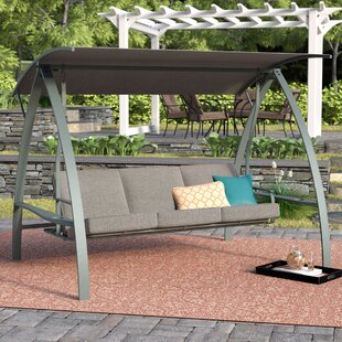 Beau Marquette 3 Seat Daybed Porch Swing With Stand