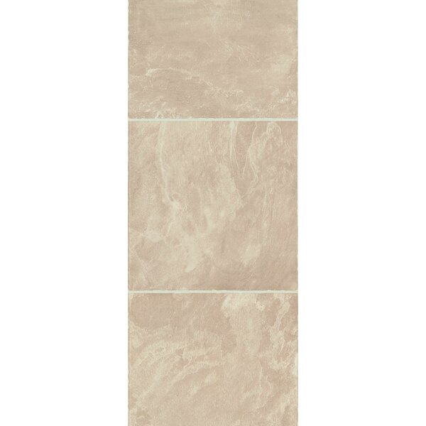 Stones and Ceramics 11.81 x 47.48 x 8.3mm Tile Laminate Flooring in Slate Natural Beige by Armstrong Flooring
