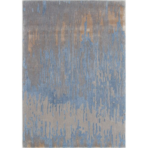 Opal Handmade Blue/Gold Area Rug by Dynamic Rugs