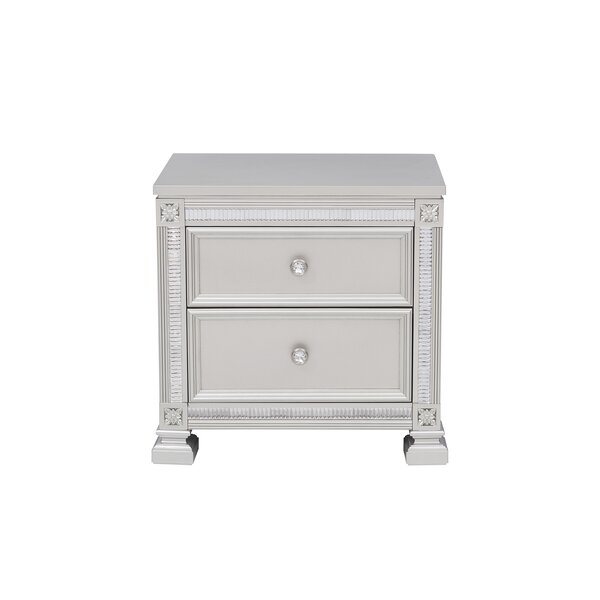 Lybarger 2 Drawer Nightstand by Rosdorf Park