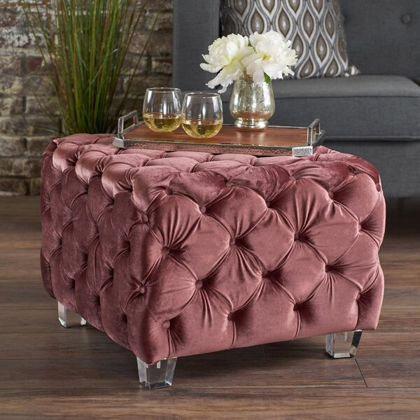 Finchley Cocktail Tufted Ottoman by House of Hampton