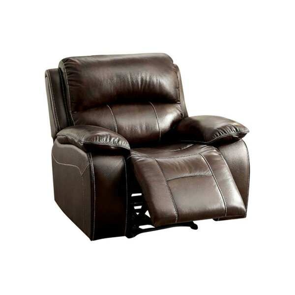 Pallab Leather Manual Rocker Recliner [Red Barrel Studio]