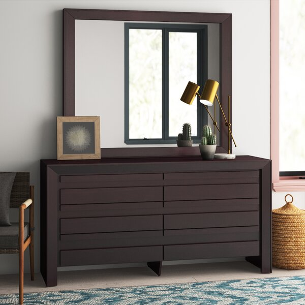 Aries 6 Drawer Double Dresser with Mirror by Mistana