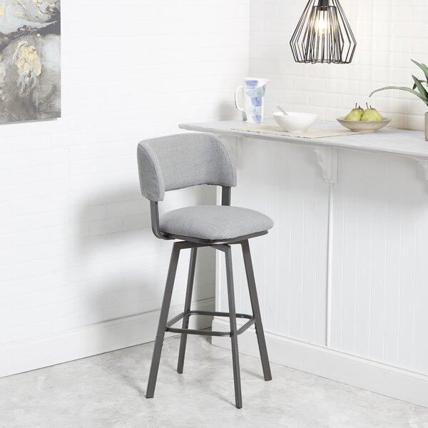Alydar Adjustable Height Swivel Bar Stool by Ebern Designs