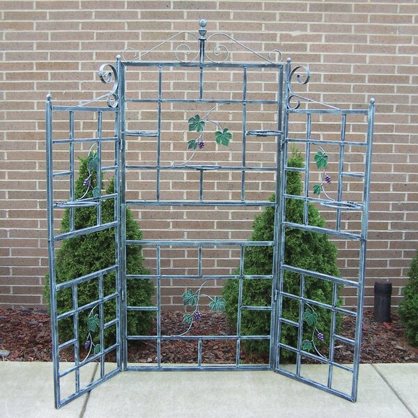 Patio Steel Folding Trellis by Oakland Living