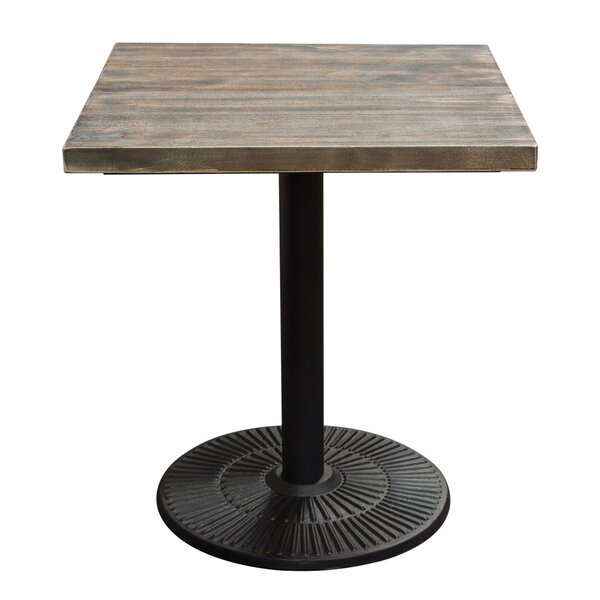 Caddys Square Iron Bistro Table by Gracie Oaks