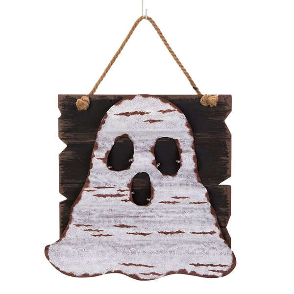 LED Wooden/Iron Ghost Wall Decor by Glitzhome