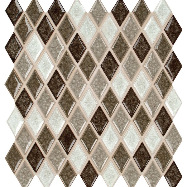 Saddle Canyon 1 x 1 Rhomboids Glass Mosaic Tile in Brown by MSI