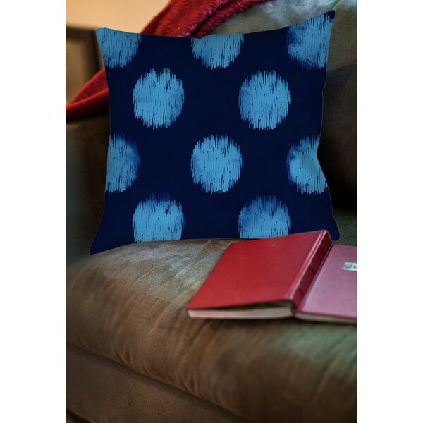 Big Dots Printed Throw Pillow by Manual Woodworkers & Weavers