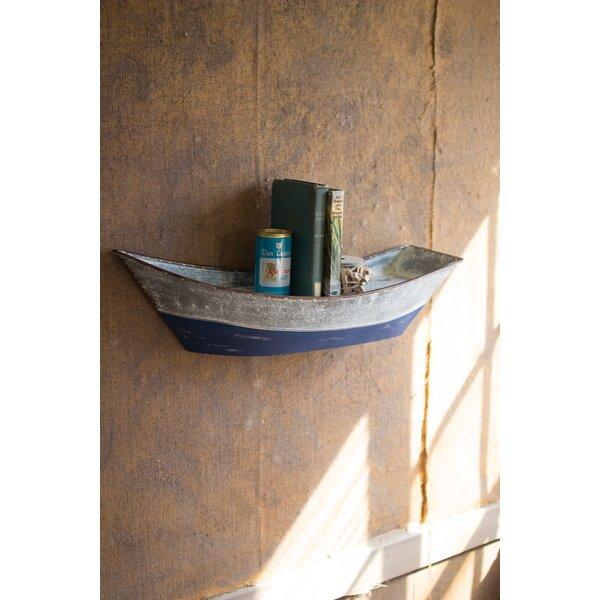 Ehrlich Metal Boat Wall Shelf by Breakwater Bay