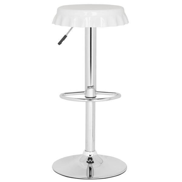 Bunky Adjustable Height Swivel Bar Stool by Safavieh