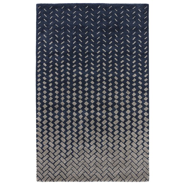 Duanesburg Hand-Tufted Drizzle/White Swan Area Rug by George Oliver