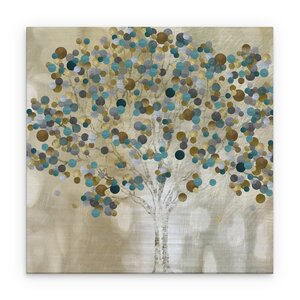 'Teal Tree' Graphic Art Print on Wrapped Canvas by Latitude Run