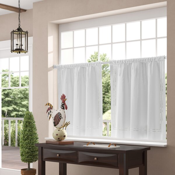 Ramsey Kitchen Tier Curtain (Set of 2) by Three Posts