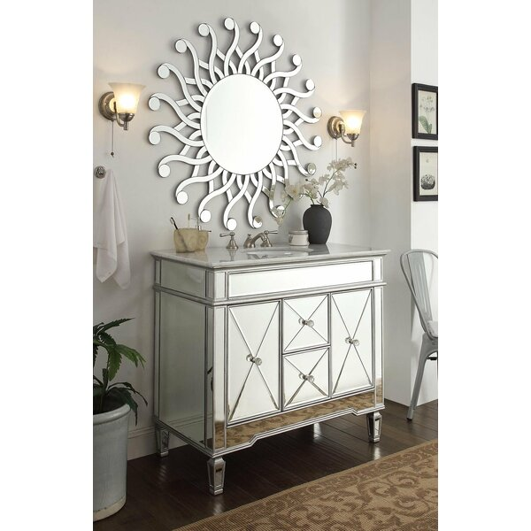 Arango Palmire 40 Single Bathroom Vanity Set with Mirror